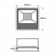 Прожектор уличный LedEX 50W Slim (4000lm, 6500К)