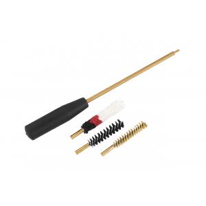 Набор калибр 9 мм для чистки оружия, три насадки (латунь, синтетика, пуховик), ПВХ упаковковка