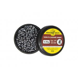 Пули для пневматики 4.5 мм Шершень 0,50г плоскоголовые 450 шт/уп.