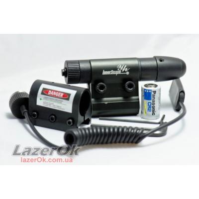 Лазерный прицел Laser Scope 501 с двумя креплениями! (красный луч)